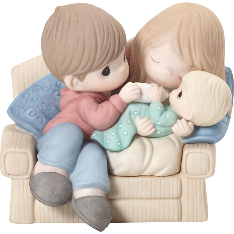 Precious Moments A Baby Makes Love Stronger Bisque Porcelain Figurine