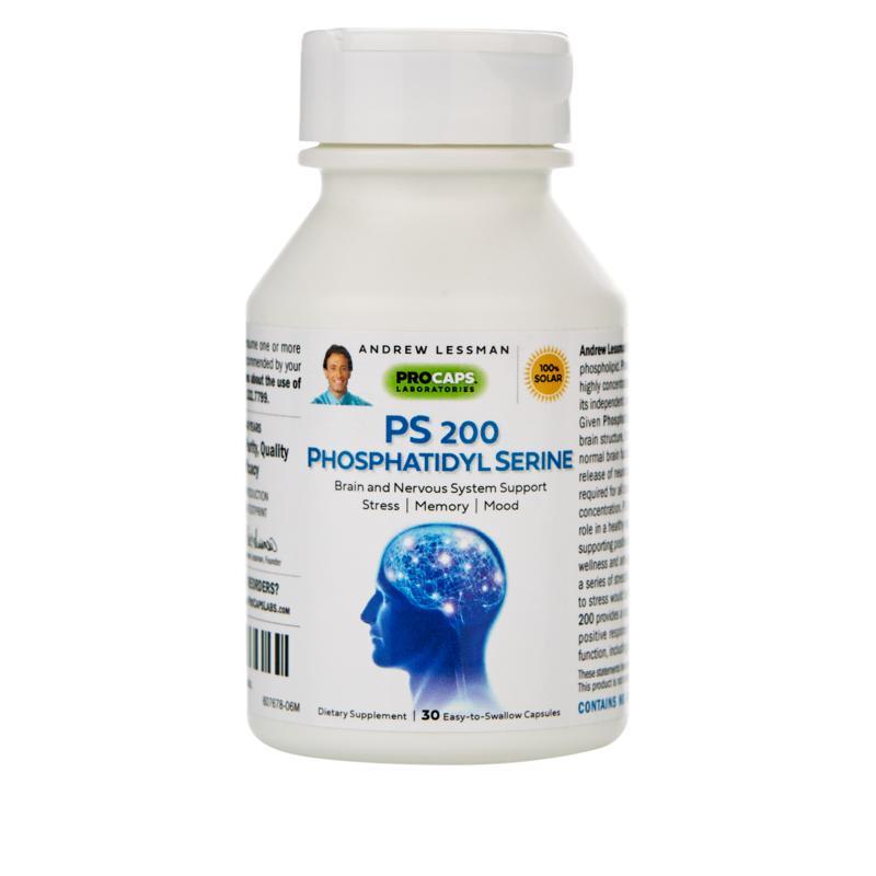 PS 200 Phosphatidyl Serine - 30 Capsules