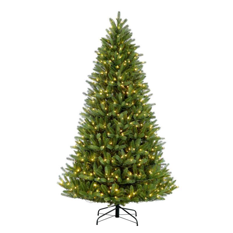 Puleo 4-1/2 ft. Pre-Lit Green Mountain Fir Artificial Christmas Tree