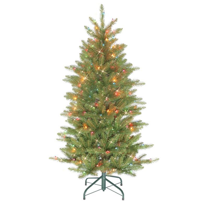 Puleo International 4.5' Pre-lit Artificial Slim Franklin Fir Tree