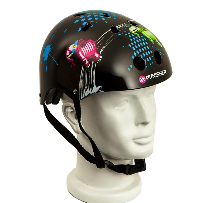 Punisher Medium Skateboard Helmet - Elephantasm