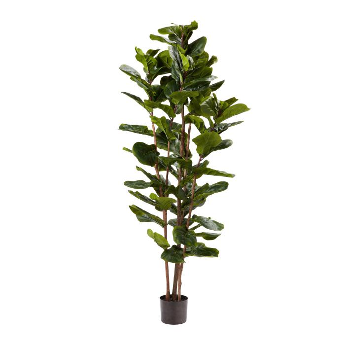 "Pure Garden Artificial Fiddle Leaf Fig Tree 72""H Faux Plant"