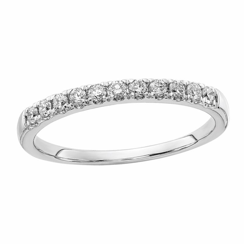 Radiant Fire 14K Gold .25ctw Lab-Grown Diamond Round Wedding Band Ring