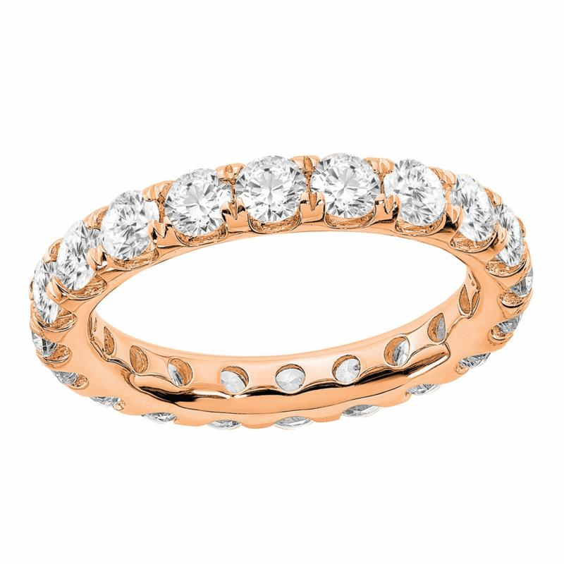 Radiant Fire 14K Gold 3ctw Lab-Grown Diamond Round Eternity Band