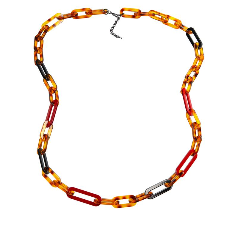 "Rara Avis by Iris Apfel 50"" Resin Link Necklace"