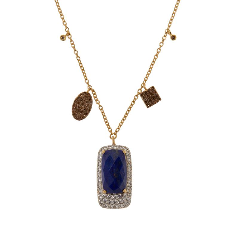 Rarities Gem, Diamond and White Zircon Pendant Necklace