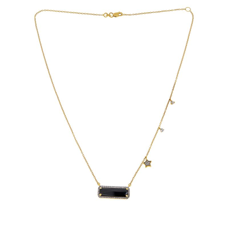 Rarities Gold-Plated Colored Gemstone and Zircon Necklace