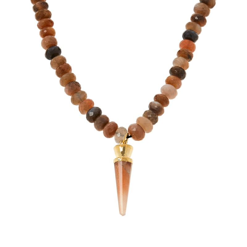 Rarities Gold-Plated Gemstone Bead Charm Necklace