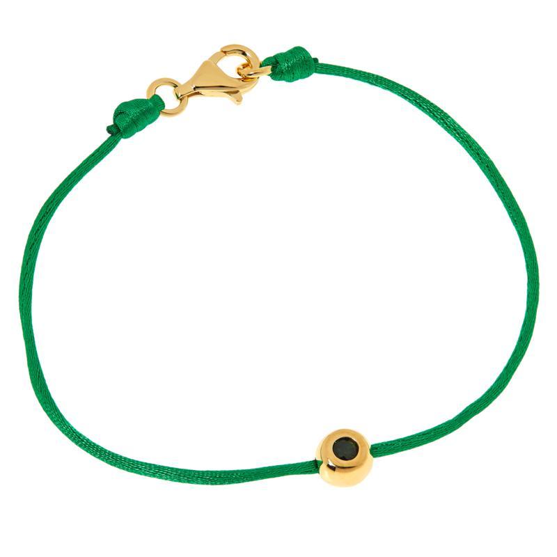 Rarities Gold-Plated Gemstone Station Nylon Cord Bracelet