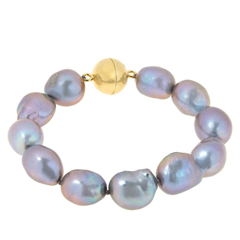 Rarities Gold-Plated Sterling Silver Baroque Cultured Pearl Bracelet