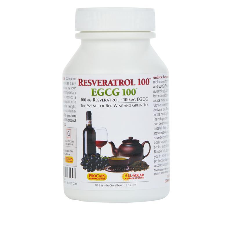 Resveratrol-100 EGCG-100 - 30 Capsules