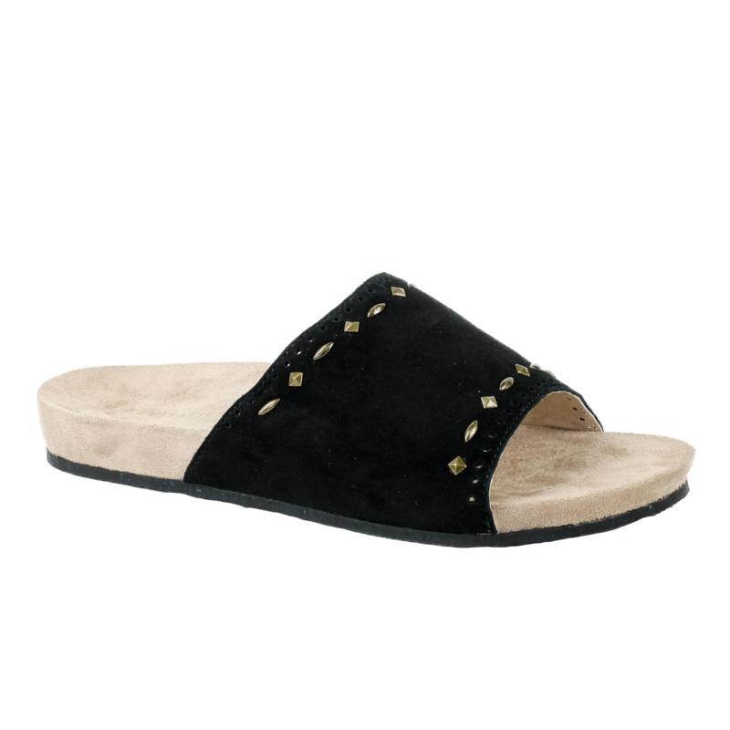 Revitalign Sofia Stud Suede Slide Sandal
