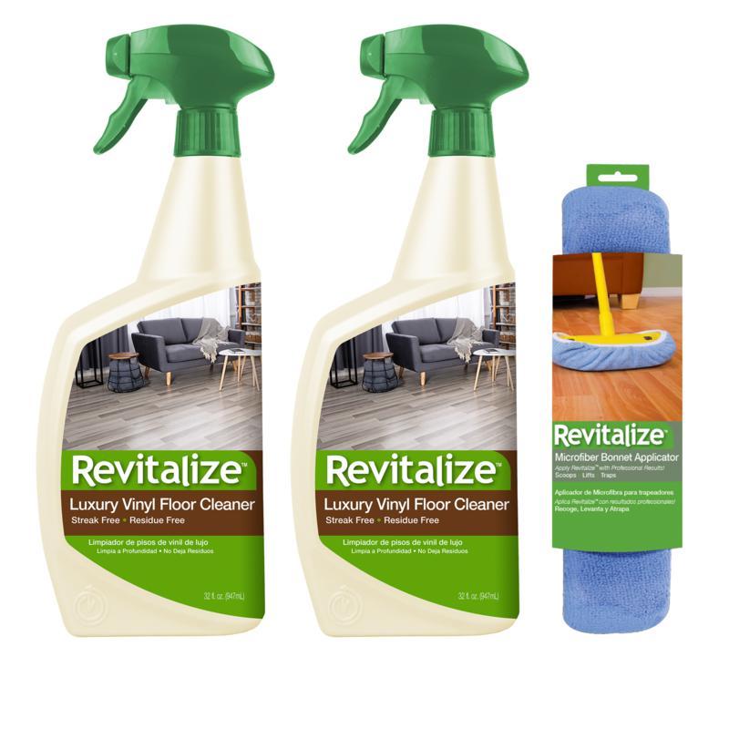 Revitalize 32 oz. Vinyl Floor Cleaner 2-pack with Bonnet