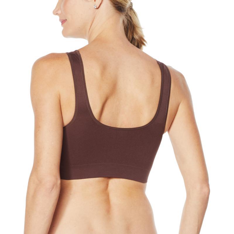 Rhonda Shear Soft Pink Ahh Bra Lace Neckline New Removable Pads