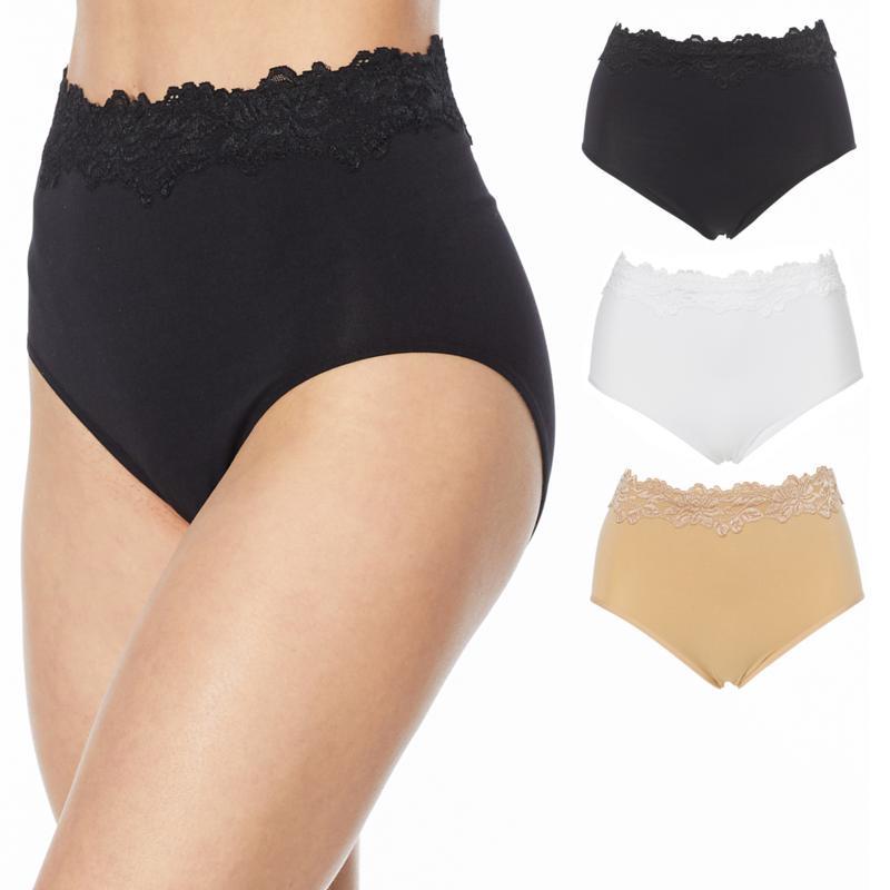 Rhonda Shear 3-pack Lace-Trim Seamless Ahh Brief