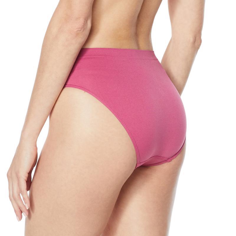 Rhonda Shear 4-pack Seamless High-Waist Ahh Brief Black//White//Mocha//Rose Pink L