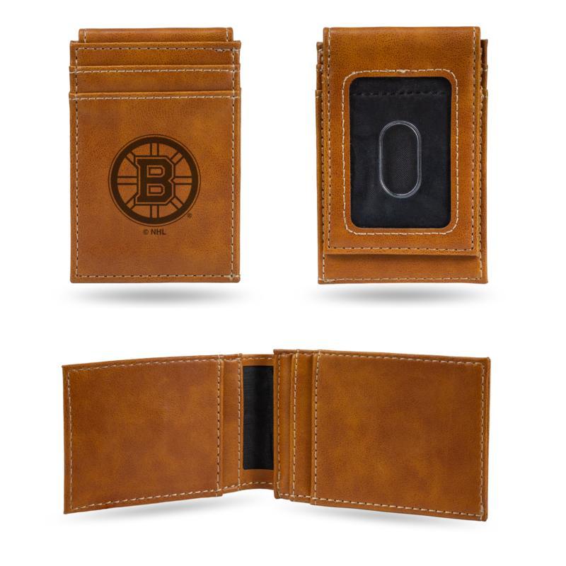 Rico Bruins Laser-Engraved Brown Front Pocket Wallet