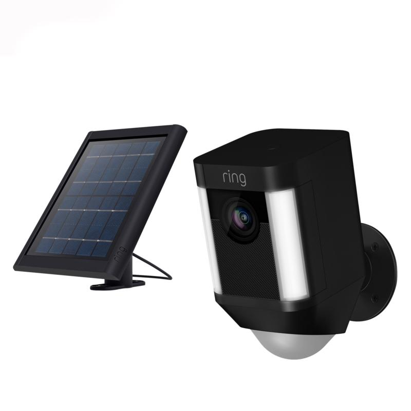 Ring Security Spotlight Camera with Solar Panel and Ring Assist+