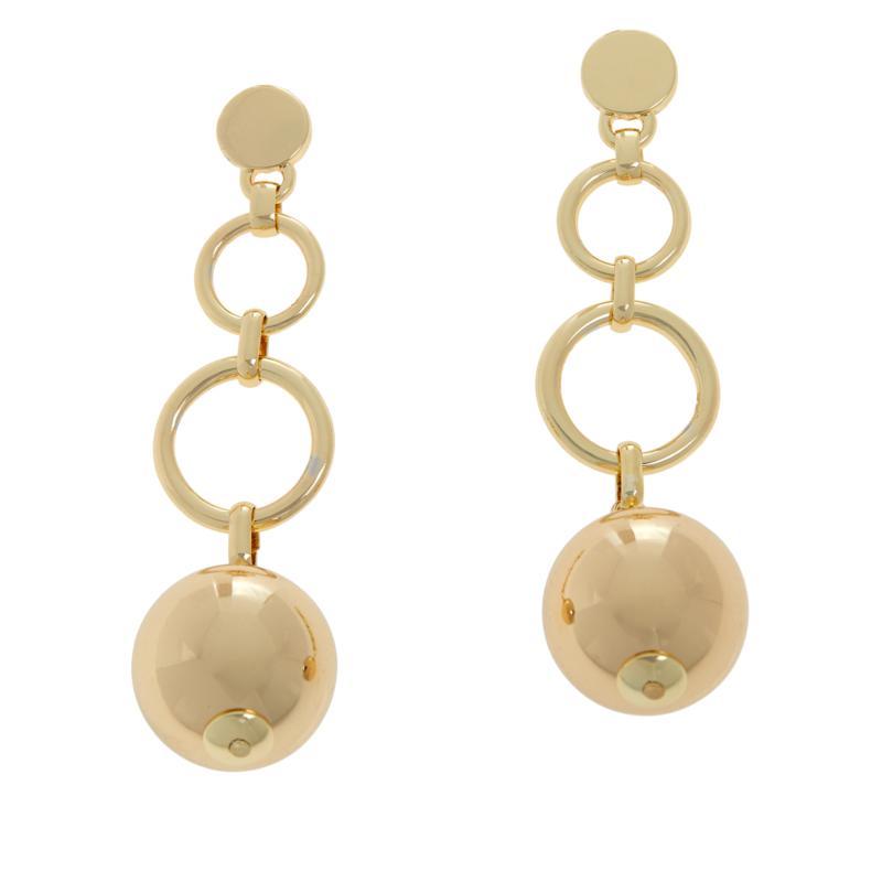 R.J. Graziano Ball and Chain Polished Drop Earrings