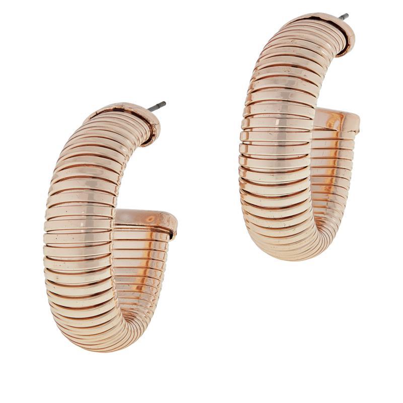 R.J. Graziano Snake Chain Hoop Earrings