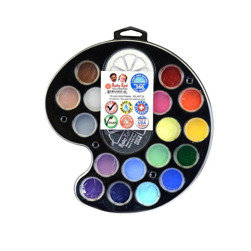 Ruby Red Face and Body Paint Artist Palette Set of 18