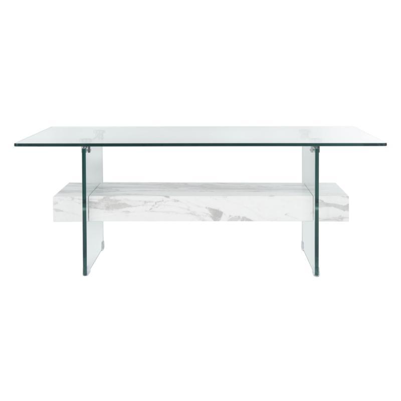 Safavieh Kayley Modern Rectangular Glass Coffee Table