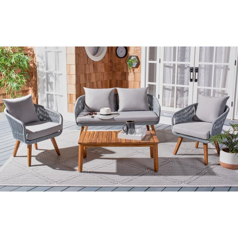 Safavieh Prester 4-piece Outdoor Living Set