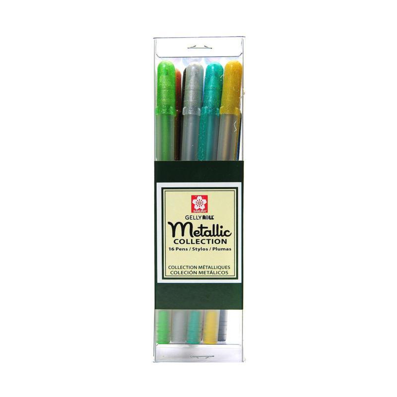 Sakura Gelly Roll Metallic Pen Sets Cube Collection - Set of 16