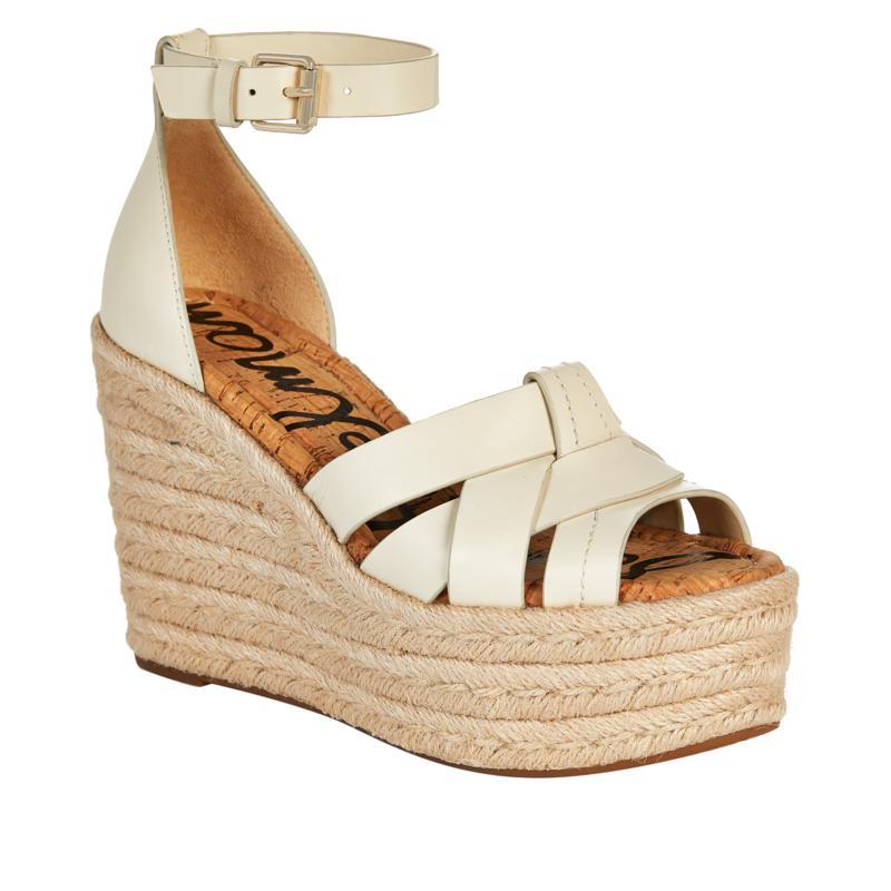 Sam Edelman Marietta Leather and Jute Wedge Sandal