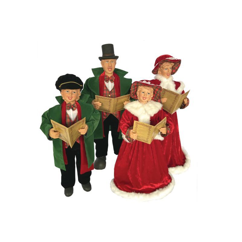 "Santa's Workshop 20""-27"" Dickens Caroling Family Figurines"