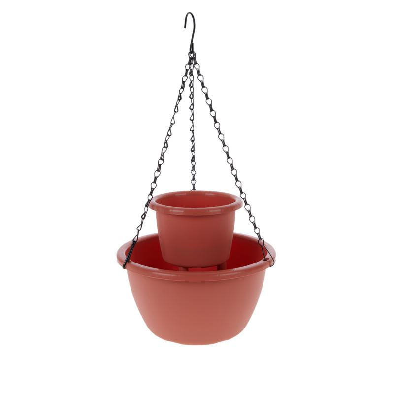 Self-Watering Round Tiered Planter with Hanging Chain