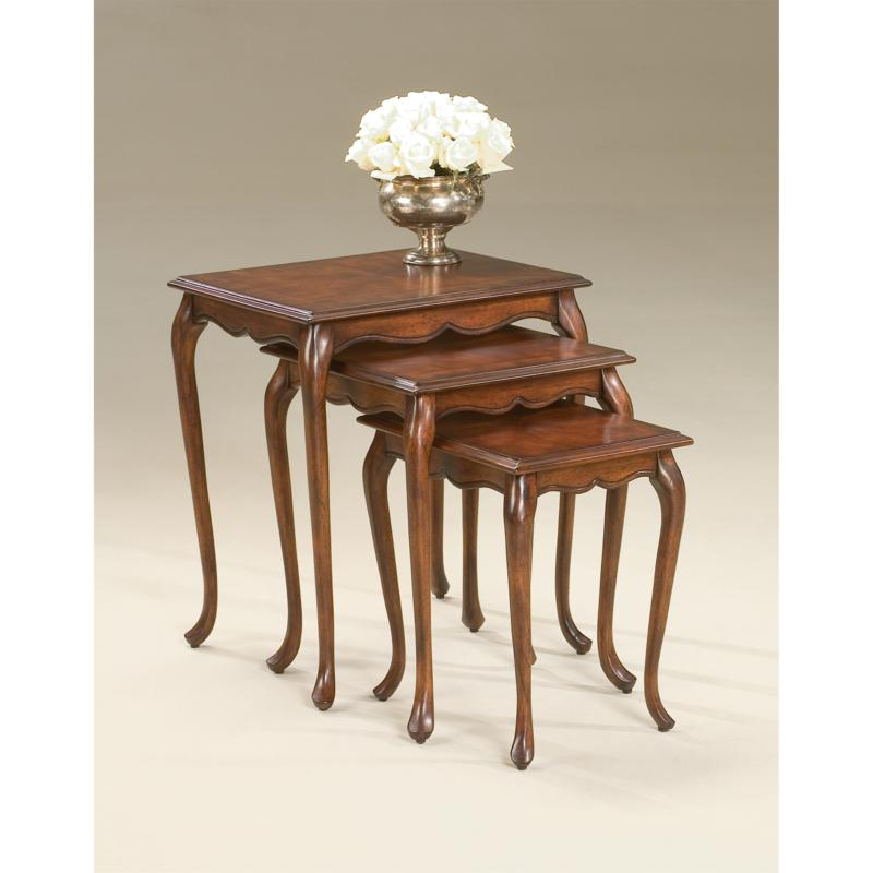Set of 3 Nesting Accent Tables with Cabriole Legs