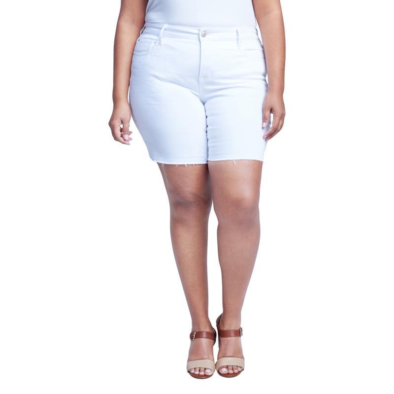Seven7 High-Rise Weekend Bermuda Short - Blanc de Blanc
