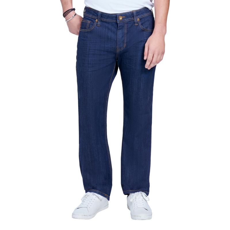 Seven7 Men's Straight 4-Way Stretch Jean - 3D Rinse