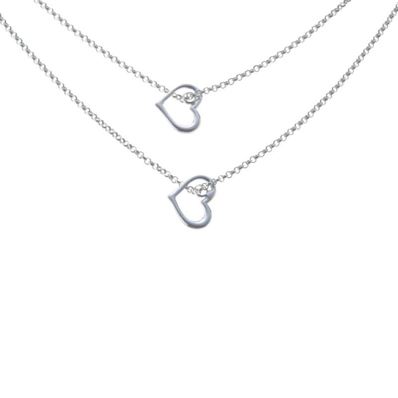 Sevilla Silver™ 2-Strand Double Heart Necklace