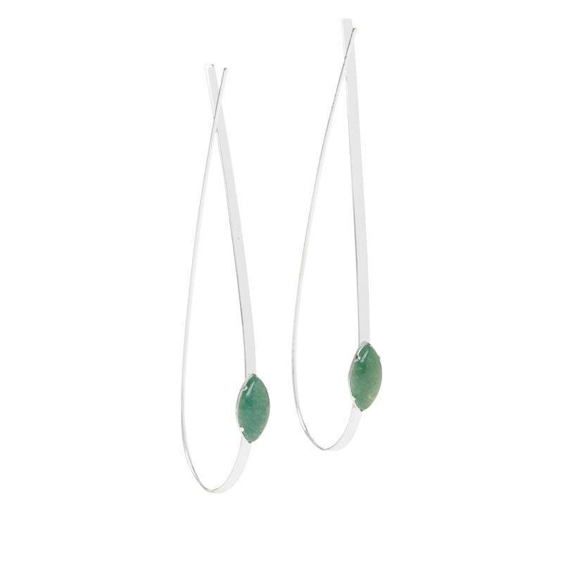 Sevilla Silver™ Gemstone Stiletto Drop Earrings