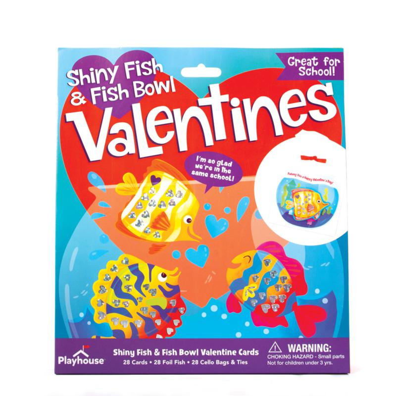 Shiny Fish and Fishbowl Valentine Cards