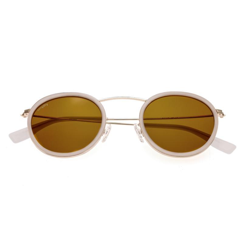 Simplify Jones Polarized Sunglasses with White Frames & Yellow Lenses