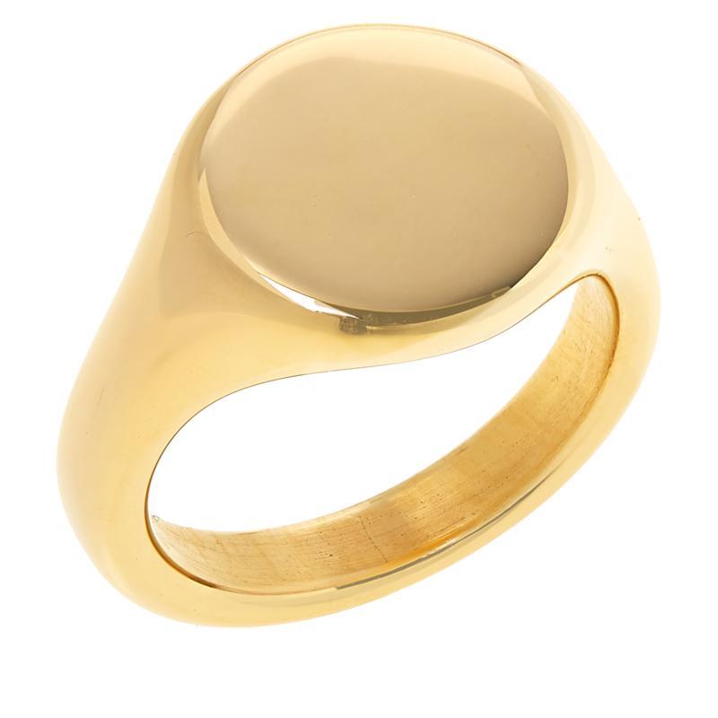 Soave Oro 14K Gold Electroform Polished Graduated Ring