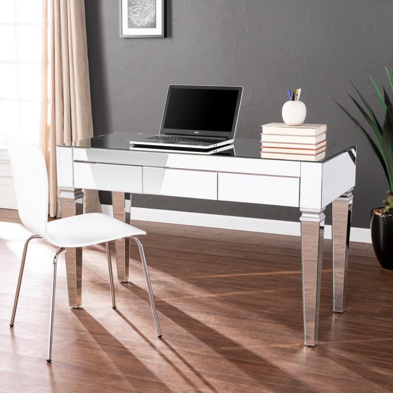 Southern Enterprises Poppy Mirrored Desk