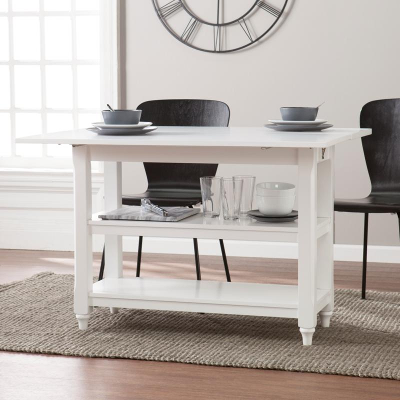 Southern Enterprises Yarrow Convertible Console To Dining Table