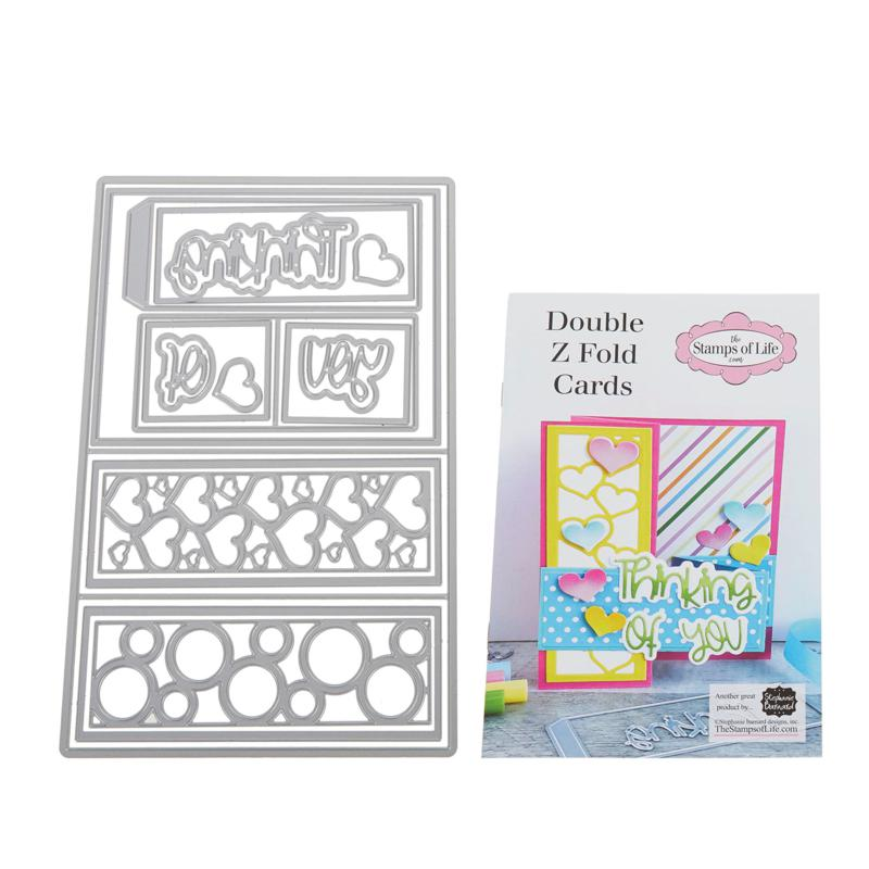 Stamps of Life Double-Z Fold A2 Card Base Die Set