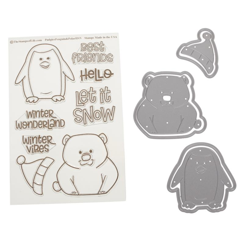 Stamps of Life Pudgie Penguin and Polar Bear Stamp and Die Set