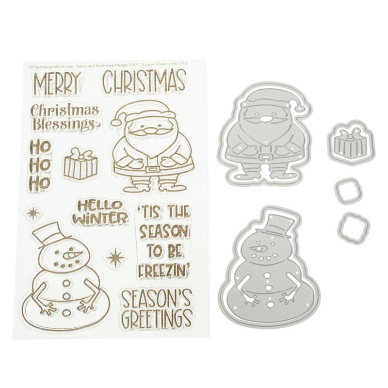 Stamps of Life Santa & Snowman Stamp and Die Set by Stephanie Barnard