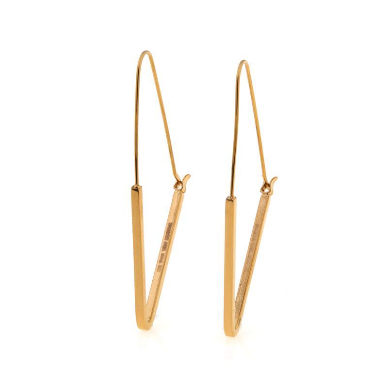 Stately Steel Triangular Threader Earrings