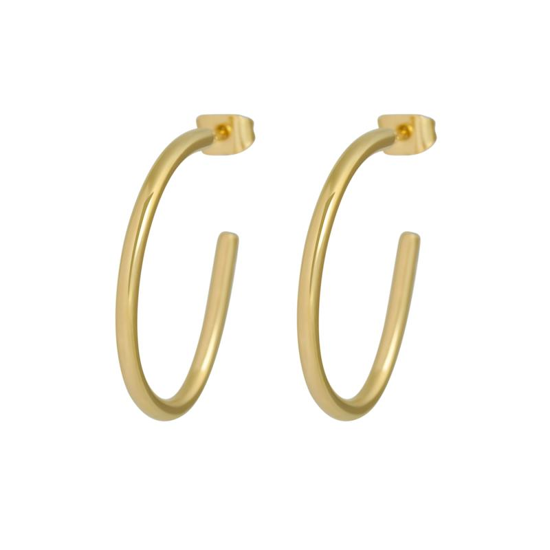 Stately Steel Wire Earrings