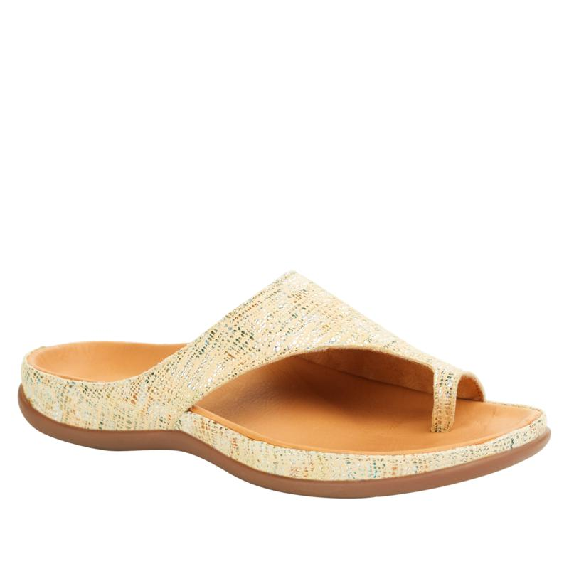 Strive Capri Leather Toe-Loop Orthotic Sandal