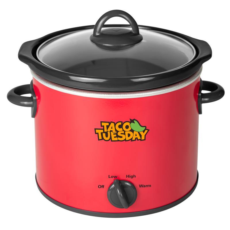 Taco Tuesday TTRSC4RD 4-Qt. Fiesta Slow Cooker