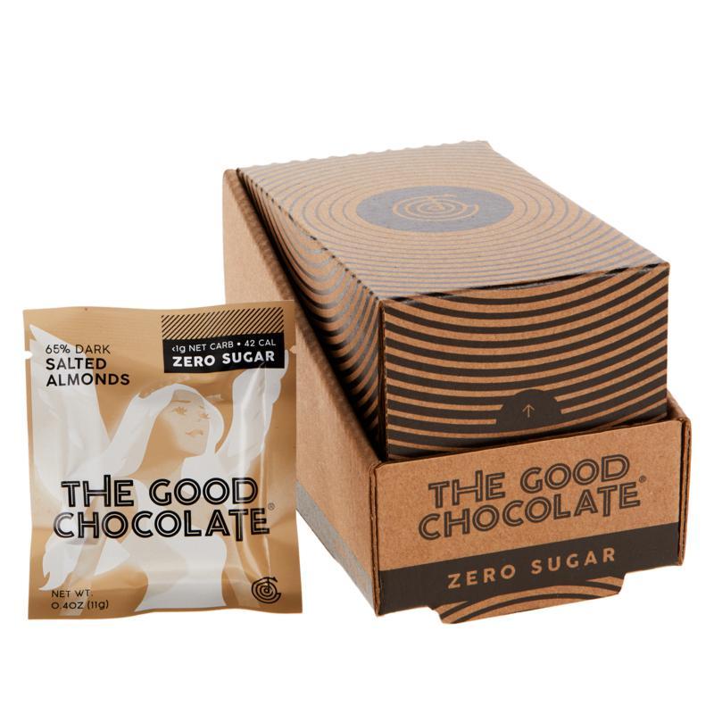 The Good Chocolate 14-piece .4 oz. Zero Sugar Chocolate Square