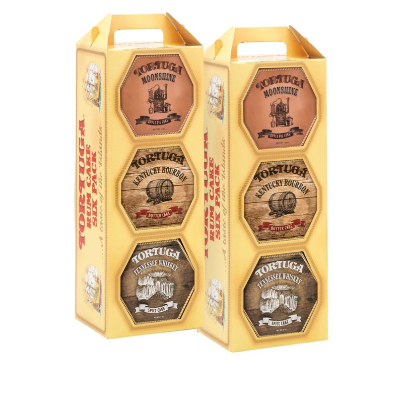 Tortuga 6-pack 4 oz. Southern Trio Rum Cake Variety Gift Set
